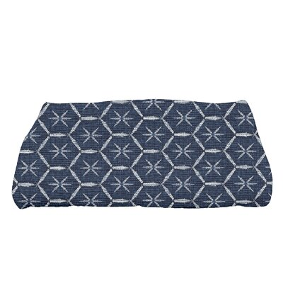 Arlo Asterisk Geometric Bath Towel Color: Navy Blue