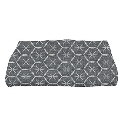 Arlo Asterisk Geometric Bath Towel Color: Black