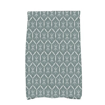 Arlo Asterisk Geometric Hand Towel Color: Green