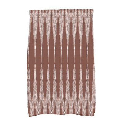 Arlo Geometric Hand Towel Color: Maroon