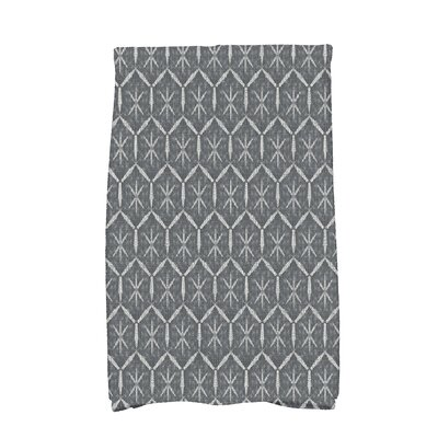Arlo Asterisk Geometric Hand Towel Color: Black