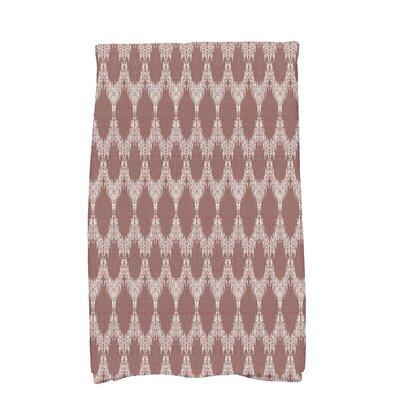 Arlo Mudcloth Geometric Hand Towel Color: Maroon