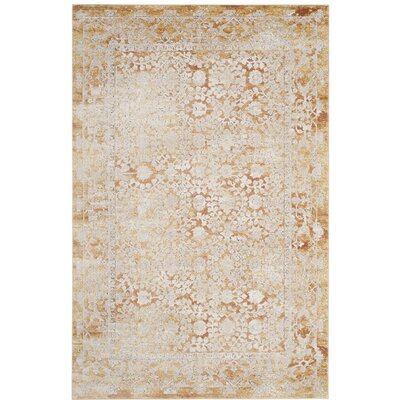 Bray Gold/Beige Area Rug Rug Size: Rectangle 3 x 10