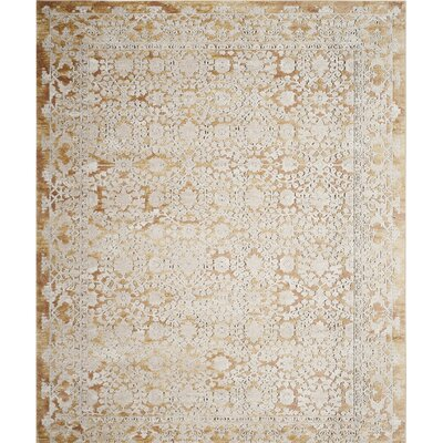 Bray Gold/Beige Area Rug Rug Size: Rectangle 67 x 9