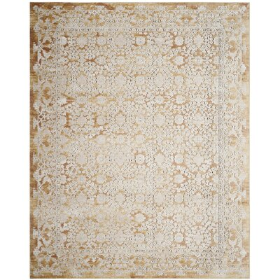 Bray Gold/Beige Area Rug Rug Size: Rectangle 10 x 14