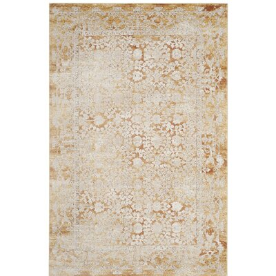 Bray Gold/Beige Area Rug Rug Size: Rectangle 4 x 6