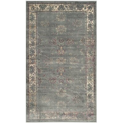 Makenna Grey/Multi Area Rug Rug Size: 33 x 57