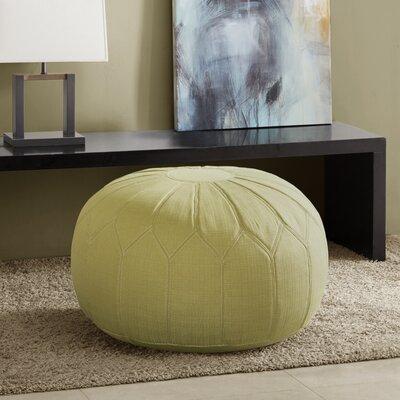 Arlene Pouf Ottoman Upholstery: Green