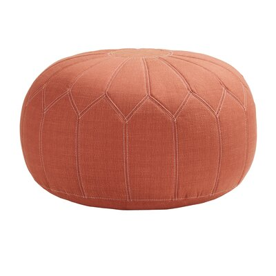 Arlene Pouf Upholstery: Orange