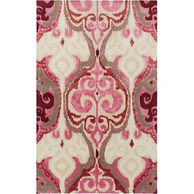 Osvaldo Hot Pink Ikat Area Rug Rug Size: Rectangle 3'3
