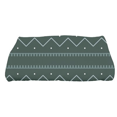 Arlo Dots Geometric Bath Towel Color: Green