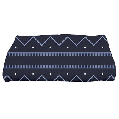 Arlo Dots Geometric Bath Towel Color: Navy Blue