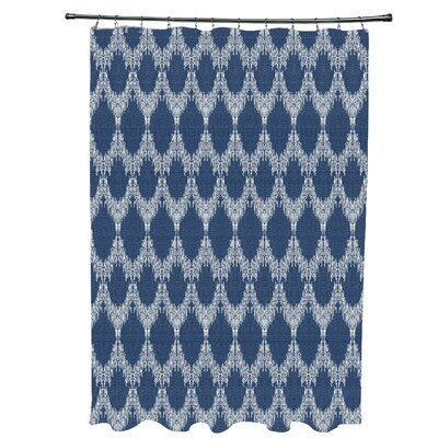 Arlo Geometric Shower Curtain Color: Blue