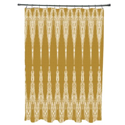 Arlo Geometric 12- Button Shower Curtain Color: Gold