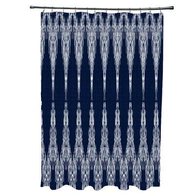 Arlo Geometric 12- Button Shower Curtain Color: Navy Blue