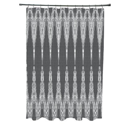 Arlo Geometric 12- Button Shower Curtain Color: Black