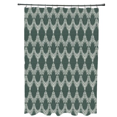 Arlo Geometric Shower Curtain Color: Green