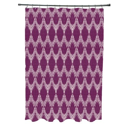 Arlo Geometric Shower Curtain Color: Purple