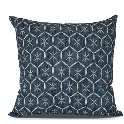Arlo Tufted Geometric Outdoor Throw Pillow Size: 16 H x 16 W, Color: Navy Blue