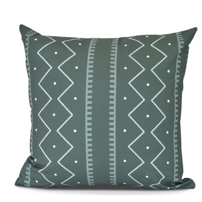 Arlo Mudcloth Geometric Outdoor Throw Pillow Size: 16 H x 16 W, Color: Green