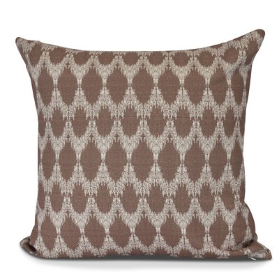 Arlo Geometric Outdoor Throw Pillow Color: Maroon, Size: 16 H x 16 W