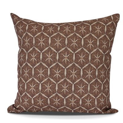 Arlo Tufted Geometric Outdoor Throw Pillow Size: 18 H x 18 W, Color: Maroon