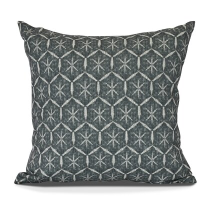 Arlo Tufted Geometric Outdoor Throw Pillow Size: 18 H x 18 W, Color: Green
