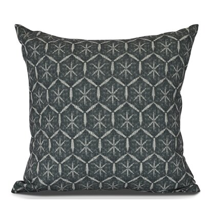 Arlo Tufted Geometric Outdoor Throw Pillow Size: 18 H x 18 W, Color: Navy Blue