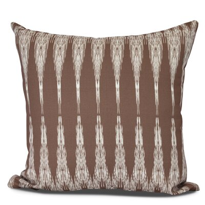 Arlo Geometric Outdoor Throw Pillow Size: 18 H x 18 W, Color: Maroon