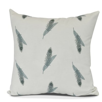 Molly Feather Floral Throw Pillow Size: 26 H x 26 W, Color: Green
