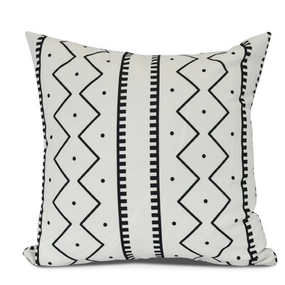 Molly Mudcloth Geometric Outdoor Throw Pillow Size: 16 H x 16 W, Color: Cream