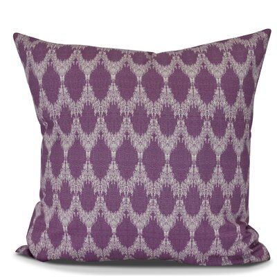 Arlo Geometric Outdoor Throw Pillow Size: 16 H x 16 W, Color: Purple