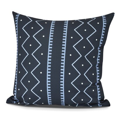 Molly Mudcloth Geometric Outdoor Throw Pillow Color: Navy Blue, Size: 18 H x 18 W