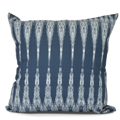 Arlo Geometric Outdoor Throw Pillow Color: Navy Blue, Size: 18 H x 18 W
