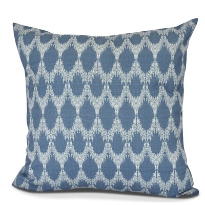 Arlo Geometric Outdoor Throw Pillow Size: 18 H x 18 W, Color: Blue
