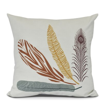 Arlo Feather Study Outdoor Throw Pillow Size: 18 H x 18 W