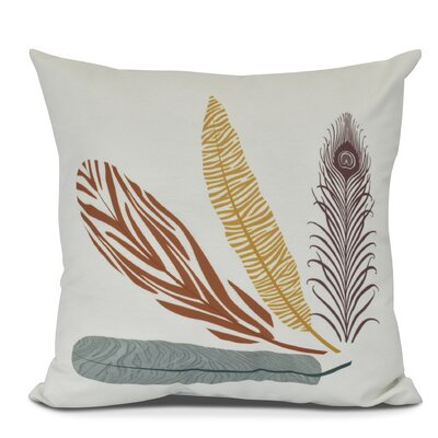 Molly Feather Study Throw Pillow Size: 18 H x 18 W