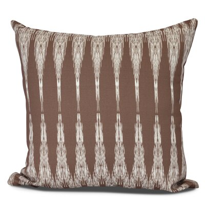 Molly Peace 1 Geometric Throw Pillow Size: 18 H x 18 W, Color: Maroon