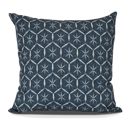Arlo Tufted Geometric Throw Pillow Color: Navy Blue, Size: 26 H x 26 W