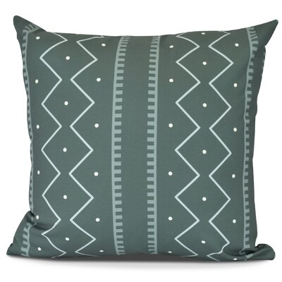 Molly Mudcloth Stripe Throw Pillow Size: 16 H x 16 W, Color: Green