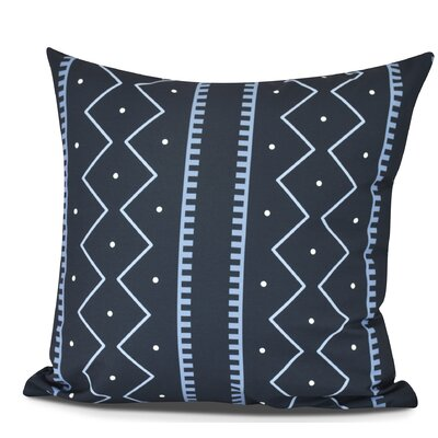 Arlo Polyester Throw Pillow Color: Navy Blue, Size: 18 H x 18 W
