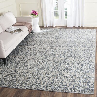 Vishnu Navy & Creme Area Rug Rug Size: Rectangle 9 x 12