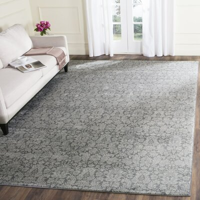 Vishnu Dark Gray / Light Grey Area Rug Rug Size: Rectangle 51 x 77