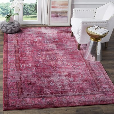 Esmeyer Red Area Rug Rug Size: 5 x 8