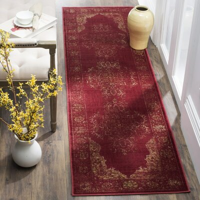 Archer Rose Area Rug Rug Size: Runner 22 x 8