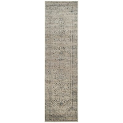 Lizotte Stone / Blue Area Rug Rug Size: Runner 22 x 8