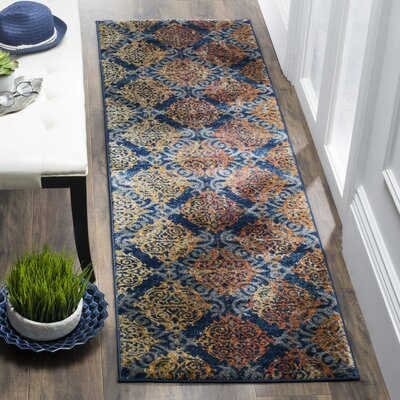 Ameesha Blue/Orange Area Rug