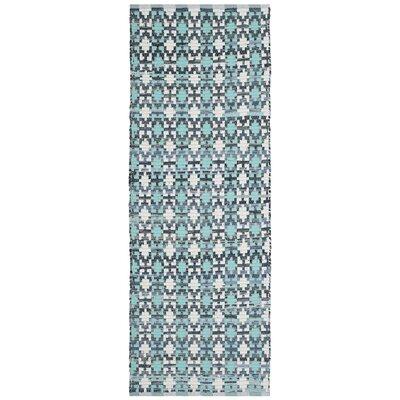 Saleem Hand-Woven Turquoise Area Rug Rug Size: Runner 23 x 6