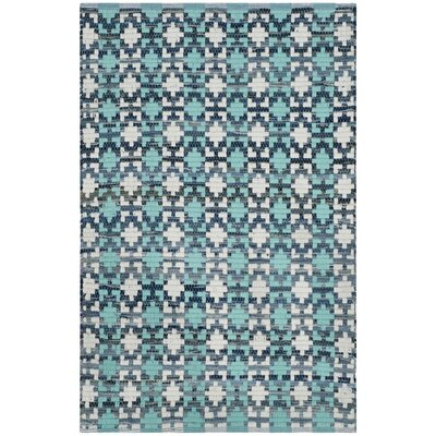 Saleem Hand-Woven Turquoise Area Rug Rug Size: Runner 23 x 8