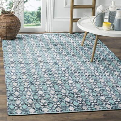 Saleem Hand-Woven Turquoise Area Rug Rug Size: Rectangle 8 x 10
